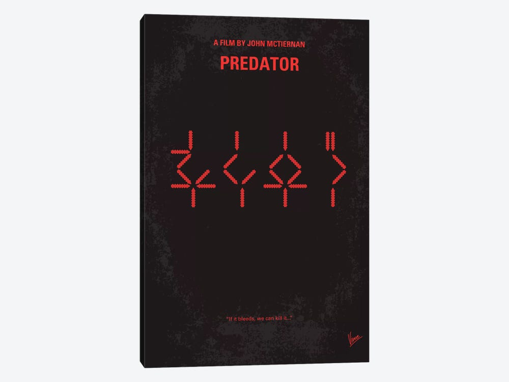 Predator Minimal Movie Poster by Chungkong 1-piece Canvas Art