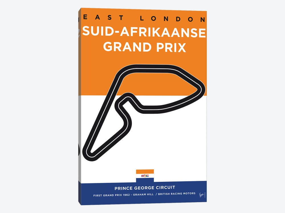 F1 East London Track Minimal Poster by Chungkong 1-piece Canvas Print