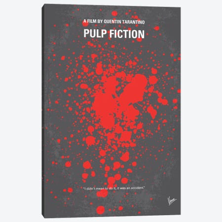 Pulp Fiction Minimal Movie Poster Canvas Print #CKG84} by Chungkong Canvas Art