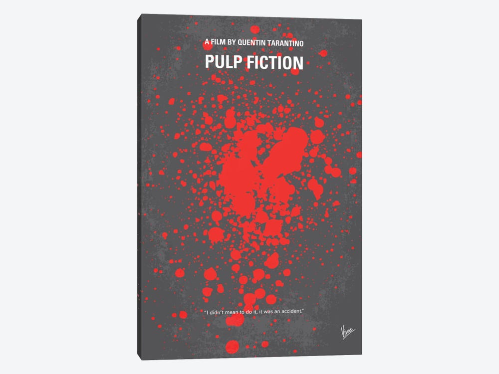 Pulp Fiction Minimal Movie Poster by Chungkong 1-piece Canvas Print