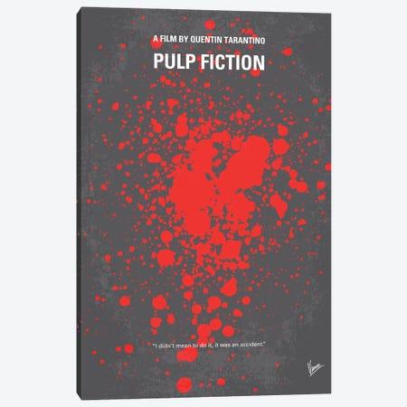Pulp Fiction Minimal Movie Poster Canvas Print #CKG84} by Chungkong Canvas Art