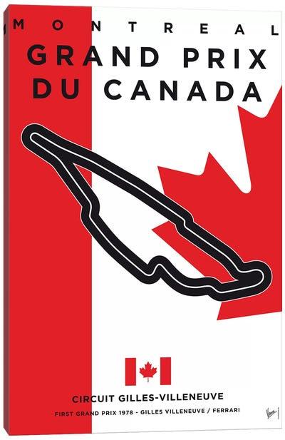 F1 Gilles Villeneuve Race Track Minimal Poster Canvas Art Print