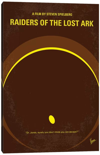 Raiders Of The Lost Ark Minimal Movie Poster Canvas Art Print