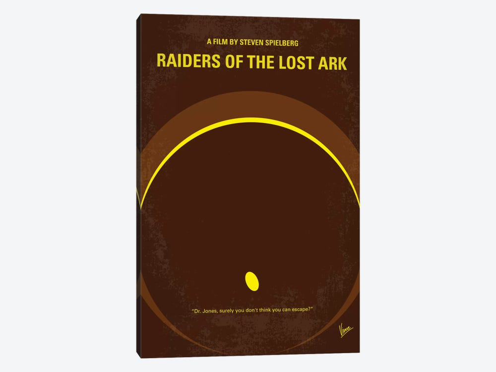 Raiders Of The Lost Ark Minimal Movie Poster by Chungkong 1-piece Canvas Art