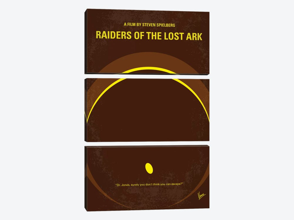 Raiders Of The Lost Ark Minimal Movie Poster by Chungkong 3-piece Canvas Artwork