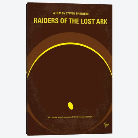 Raiders Of The Lost Ark Minimal Movie Poster Canvas Print #CKG85} by Chungkong Canvas Wall Art