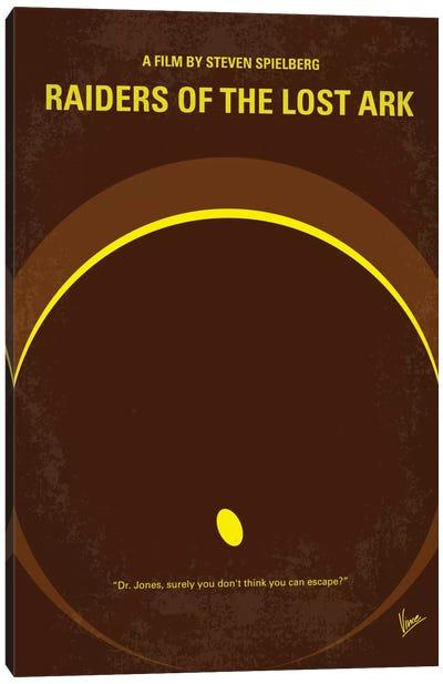 Raiders Of The Lost Ark Minimal Movie Poster Canvas Art Print