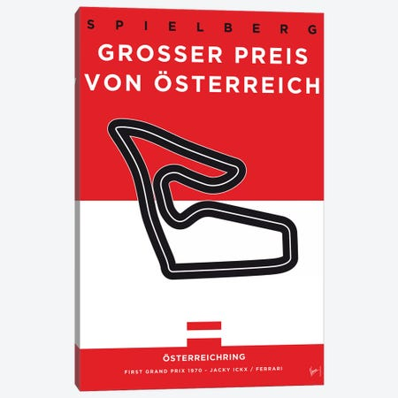 F1 Osterreichring Race Track Minimal Poster Canvas Print #CKG860} by Chungkong Canvas Print