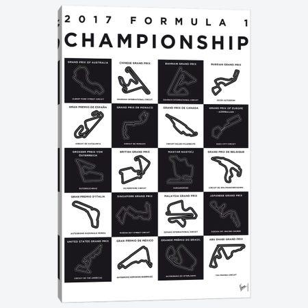 F1 Season 2017 Race Track Minimal Poster Canvas Print #CKG861} by Chungkong Canvas Print