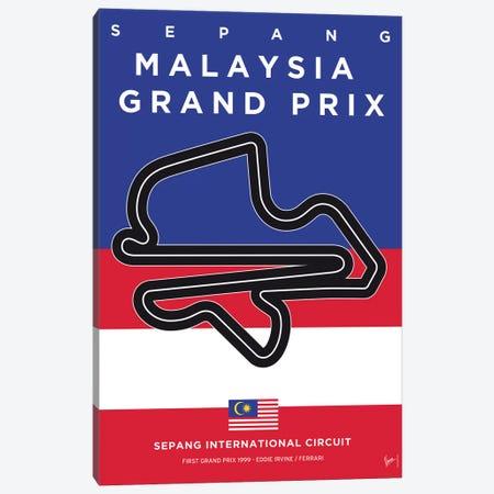 F1 Sepang Race Track Minimal Poster Canvas Print #CKG862} by Chungkong Art Print