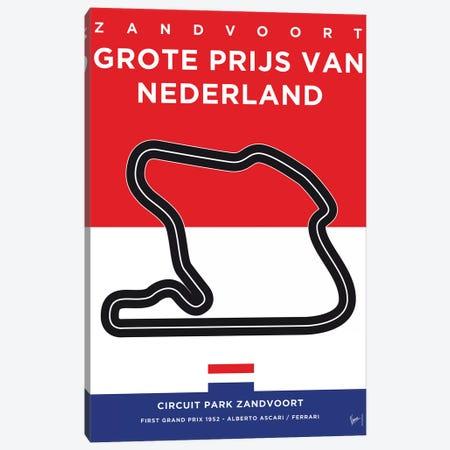 F1 Zandvoort Race Track Minimal Poster Canvas Print #CKG868} by Chungkong Art Print