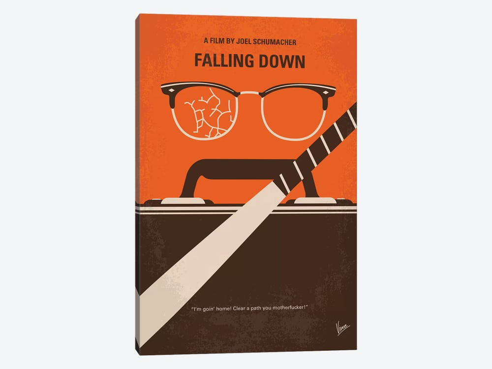 Falling Down Minimal Movie Poster by Chungkong 1-piece Canvas Art Print