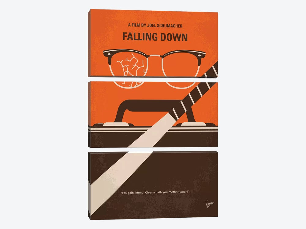 Falling Down Minimal Movie Poster by Chungkong 3-piece Art Print