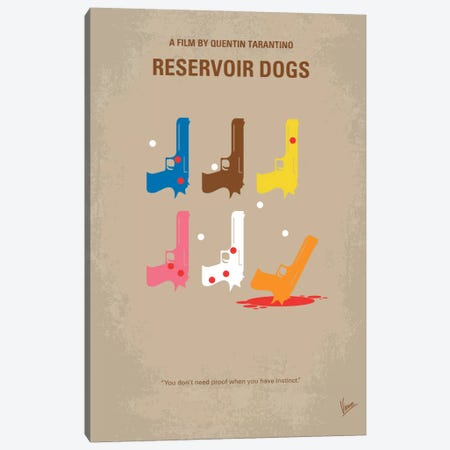 Reservoir Dogs Minimal Movie Poster Canvas Print #CKG86} by Chungkong Canvas Artwork