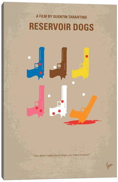 Reservoir Dogs Minimal Movie Poster by Chungkong - Minimalist Movie Posters Canvas Art Print
