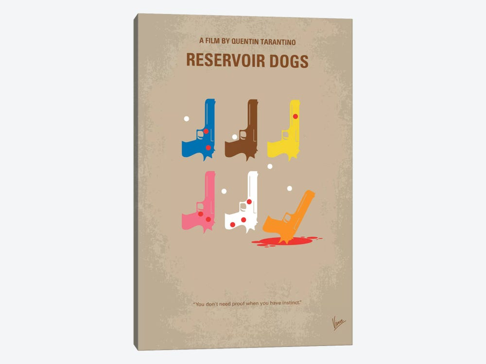 Reservoir Dogs Minimal Movie Poster by Chungkong 1-piece Canvas Print