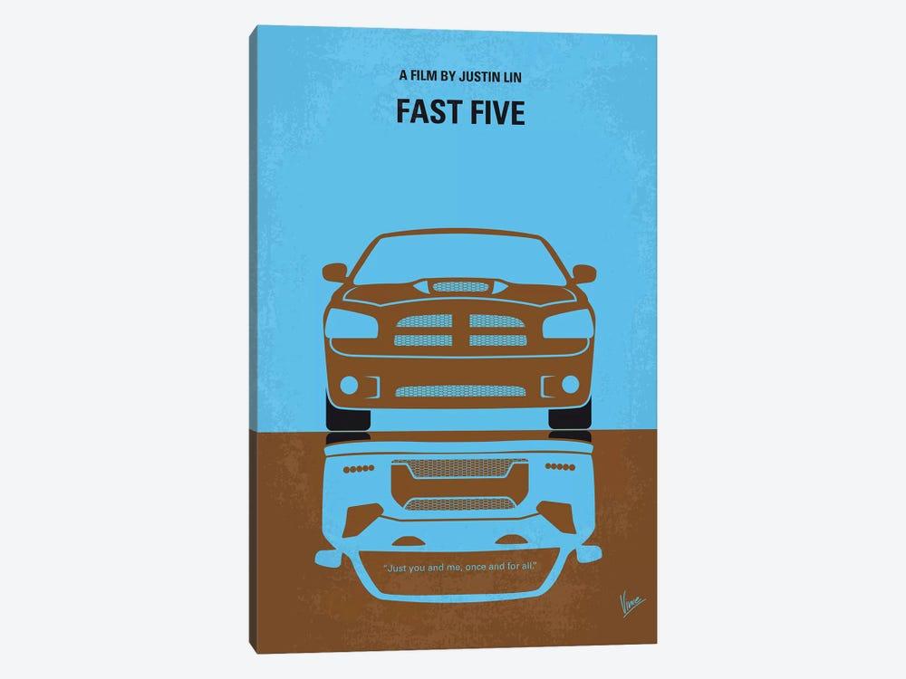 Fast Five Minimal Movie Poster by Chungkong 1-piece Canvas Artwork