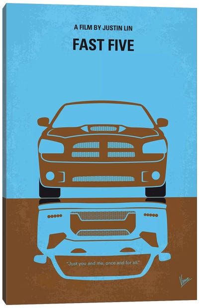 Fast Five Minimal Movie Poster Canvas Art Print