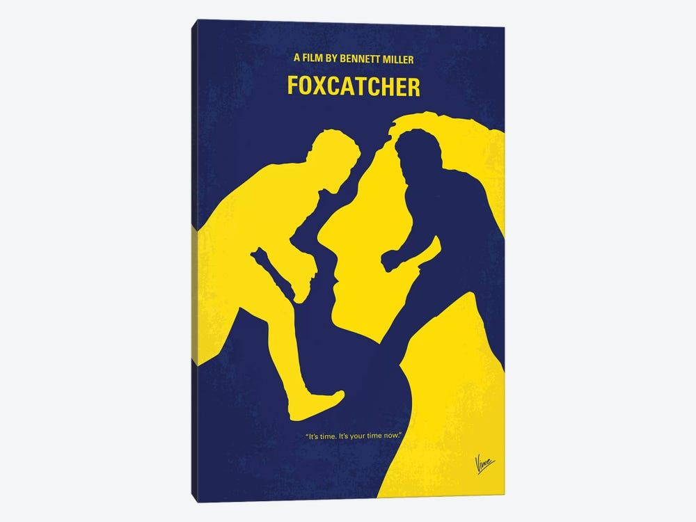 Foxcatcher Minimal Movie Poster by Chungkong 1-piece Canvas Print