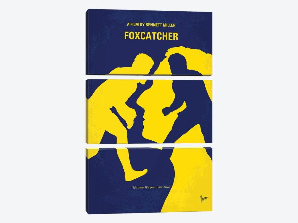 Foxcatcher Minimal Movie Poster by Chungkong 3-piece Canvas Art Print