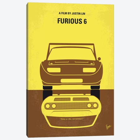 Furious 6 Minimal Movie Poster Canvas Print #CKG875} by Chungkong Canvas Print