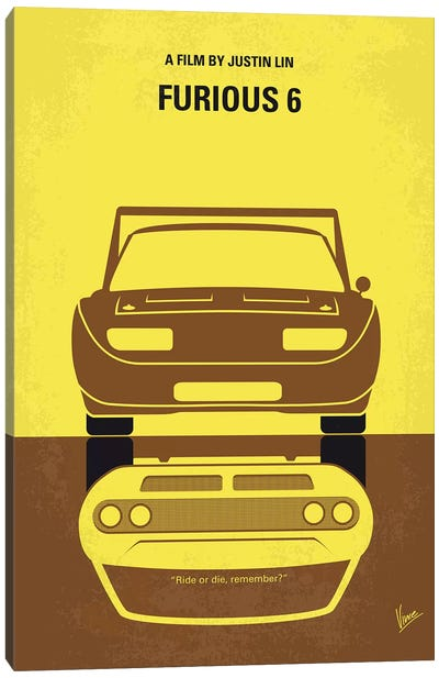 Furious 6 Minimal Movie Poster Canvas Art Print