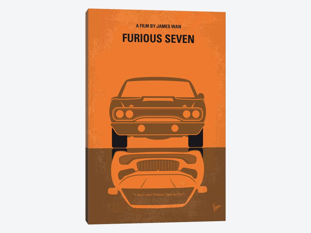 Furious 7 Minimal Movie Poster by Chungkong 1-piece Art Print