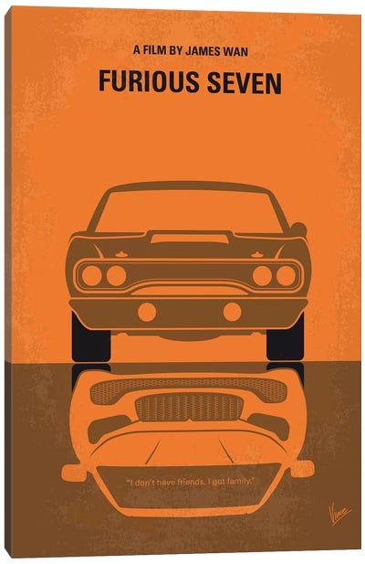Furious 7 Minimal Movie Poster Canvas Art Print