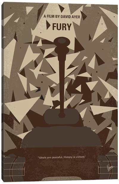 Fury Minimal Movie Poster Canvas Art Print