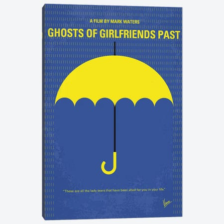 Ghosts Of Girlfriends Past Minimal Movie Poster Canvas Print #CKG878} by Chungkong Canvas Wall Art