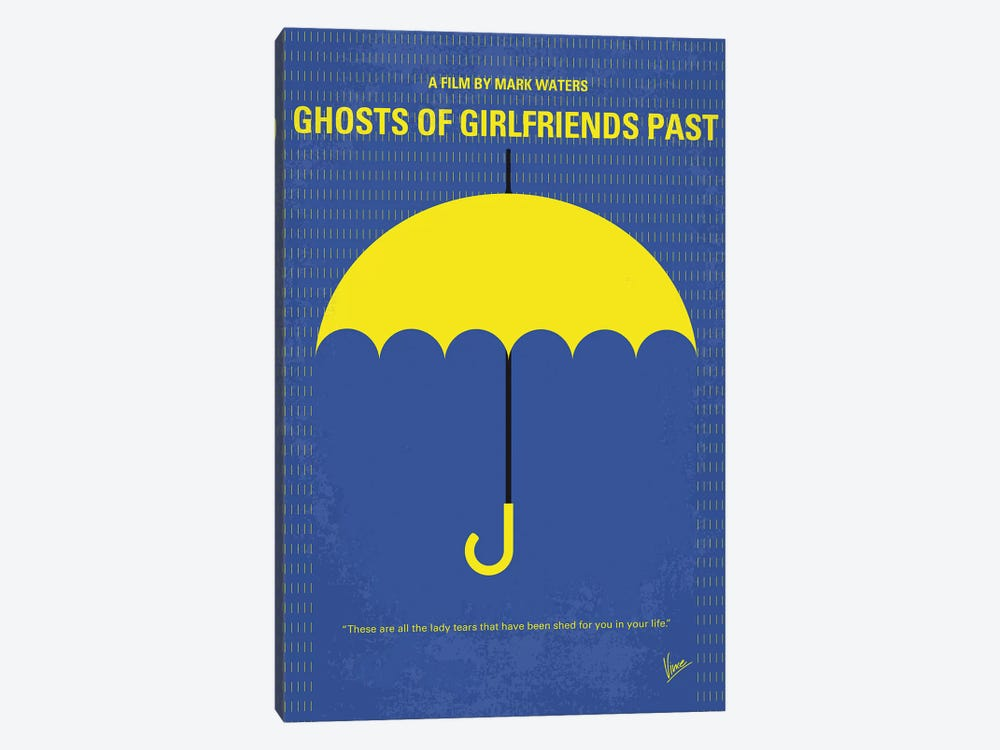 Ghosts Of Girlfriends Past Minimal Movie Poster by Chungkong 1-piece Canvas Art Print