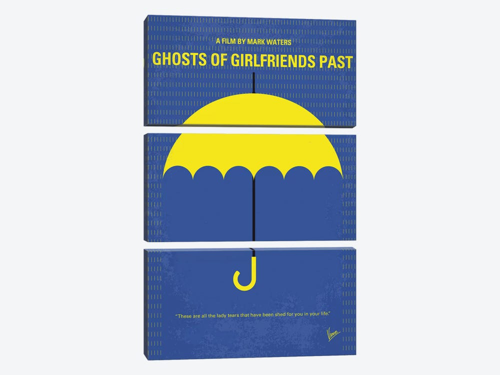 Ghosts Of Girlfriends Past Minimal Movie Poster by Chungkong 3-piece Canvas Print