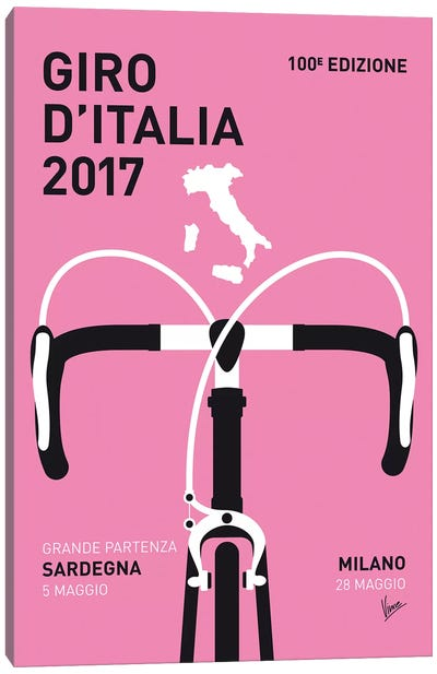 Giro d'Italia 2017 Minimal Poster Canvas Art Print