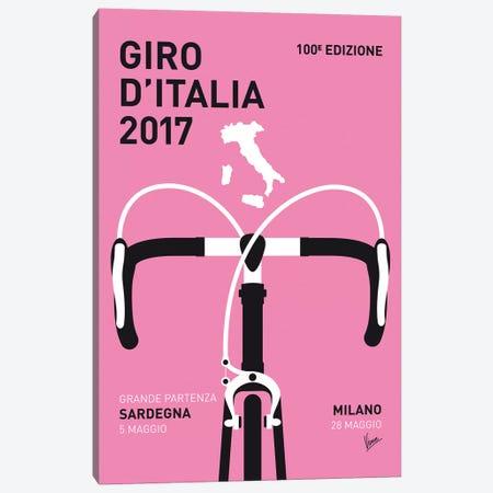 Giro d'Italia 2017 Minimal Poster Canvas Print #CKG879} by Chungkong Canvas Artwork