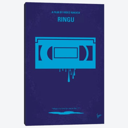 Ringu Minimal Movie Poster Canvas Print #CKG87} by Chungkong Canvas Art