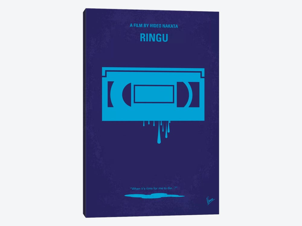 Ringu Minimal Movie Poster by Chungkong 1-piece Canvas Art
