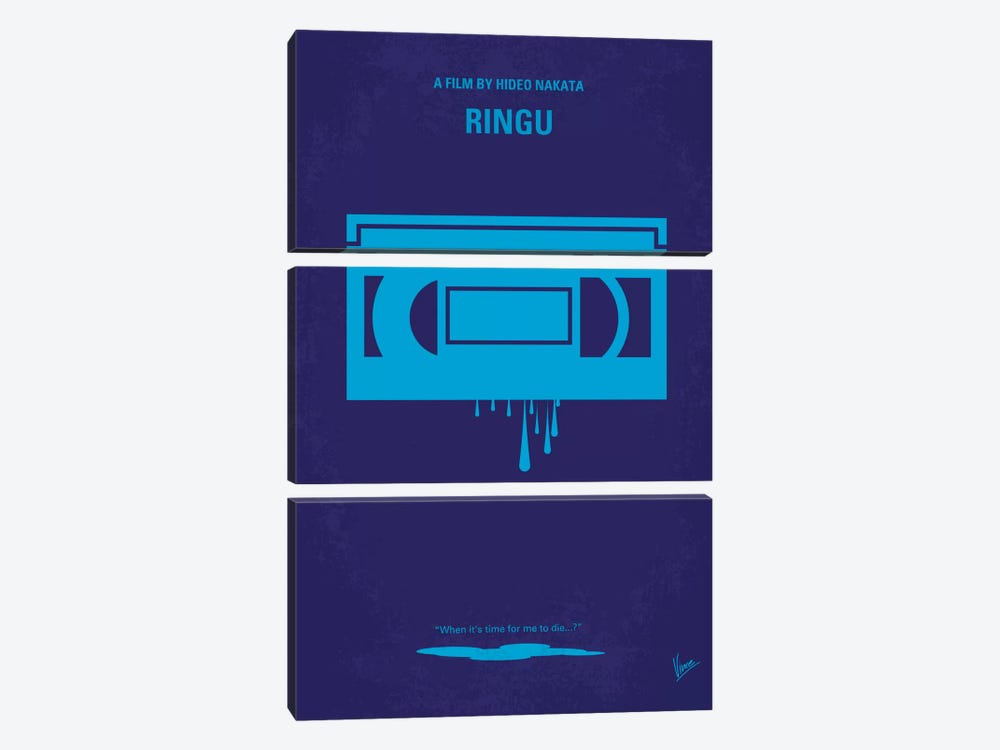 Ringu Minimal Movie Poster by Chungkong 3-piece Canvas Artwork