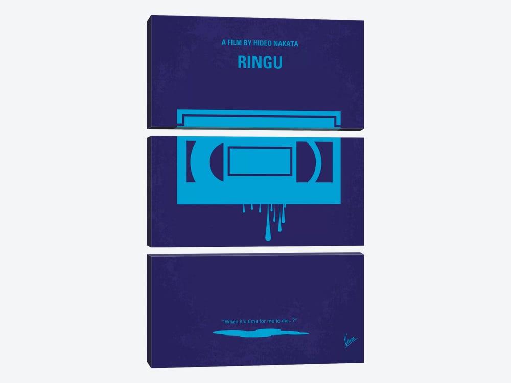 Ringu Minimal Movie Poster by Chungkong 3-piece Canvas Artwork