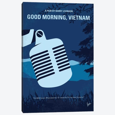 Good Morning Vietnam Minimal Movie Poster Canvas Print #CKG881} by Chungkong Art Print