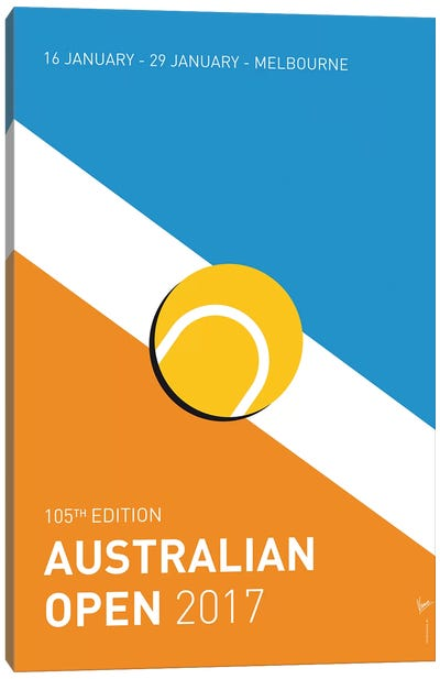 Grand Slam Australian Open 2017 Minimal Poster Canvas Art Print