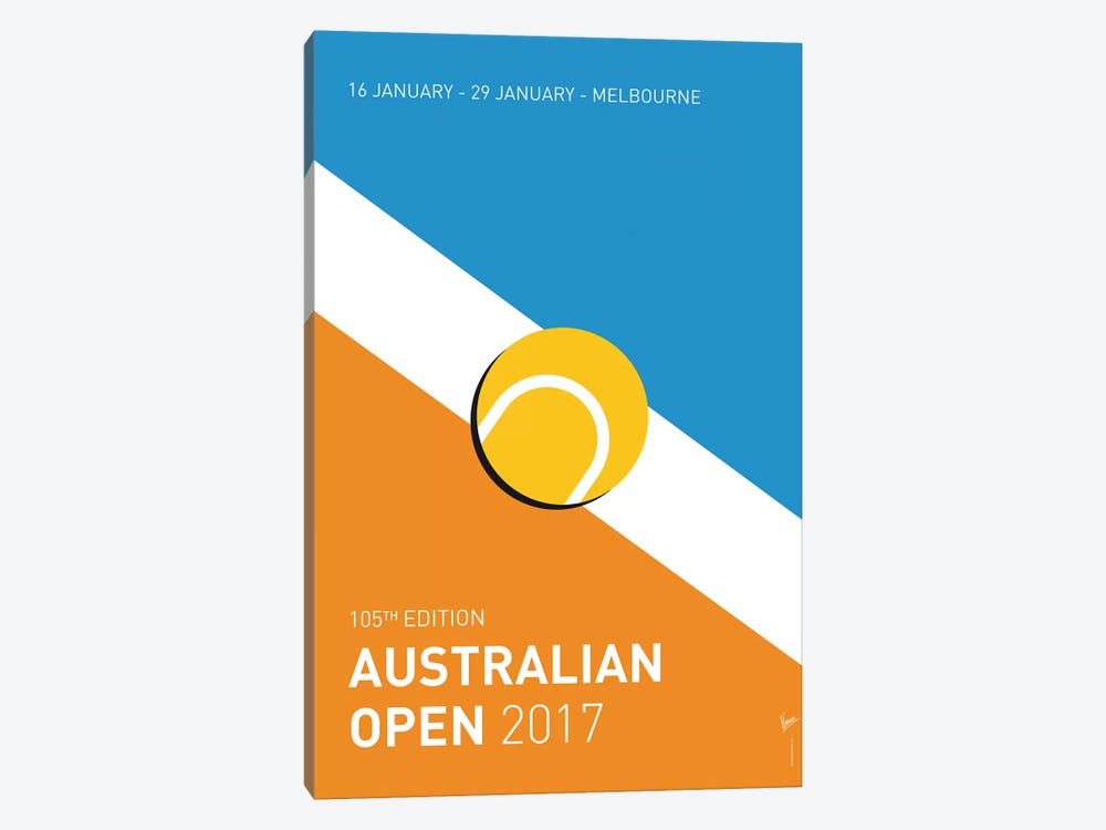 Grand Slam Australian Open 2017 Minimal Poster by Chungkong 1-piece Canvas Art