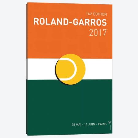 Grand Slam Rolandgarros 2017 Minimal Poster Canvas Print #CKG883} by Chungkong Canvas Print