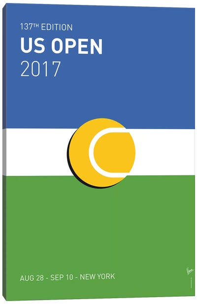 Grand Slam US Open 2017 Minimal Poster Canvas Art Print