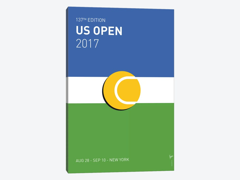 Grand Slam US Open 2017 Minimal Poster by Chungkong 1-piece Canvas Wall Art