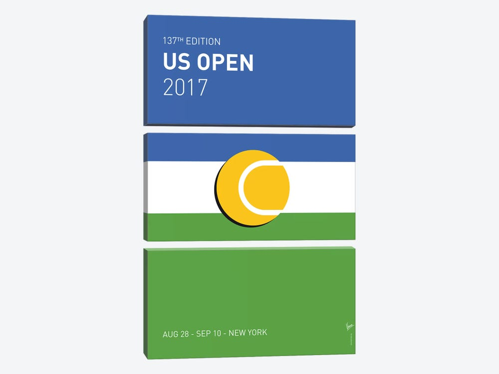 Grand Slam US Open 2017 Minimal Poster by Chungkong 3-piece Canvas Artwork