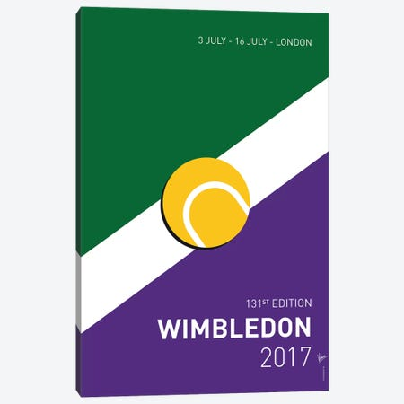 Grand Slam Wimbledon Open 2017 Minimal Poster Canvas Print #CKG885} by Chungkong Canvas Art