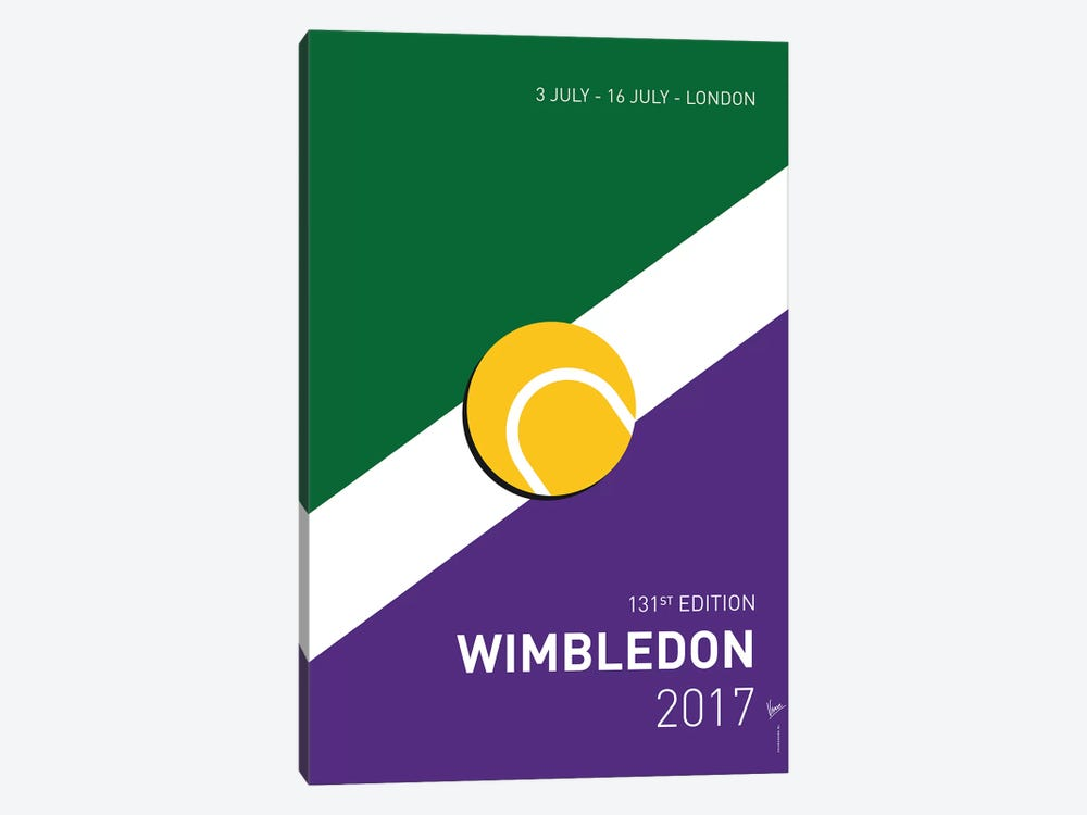 Grand Slam Wimbledon Open 2017 Minimal Poster by Chungkong 1-piece Art Print