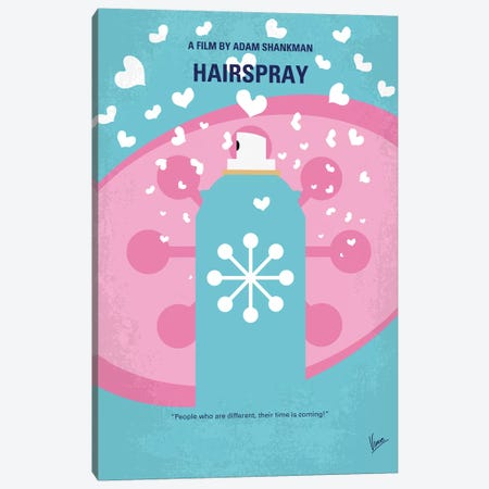 Hairspray Minimal Movie Poster Canvas Print #CKG886} by Chungkong Canvas Artwork