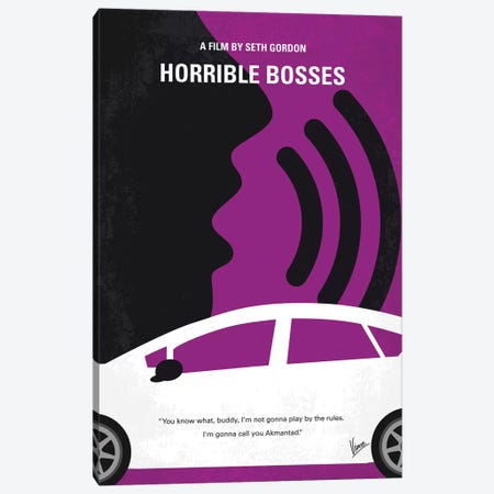 Horrible Bosses Minimal Movie Poster Canvas Print #CKG888} by Chungkong Canvas Print