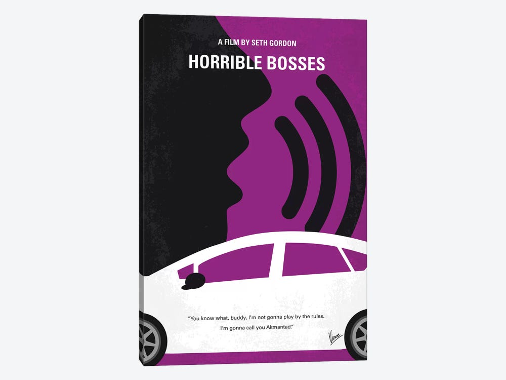 Horrible Bosses Minimal Movie Poster by Chungkong 1-piece Canvas Artwork